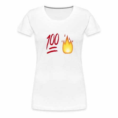 Fire & 100 Design - Women's Premium T-Shirt