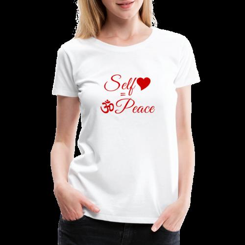 108-lSa Inspi-Shirt-83.b Self-love = OM-Peace - Women's Premium T-Shirt