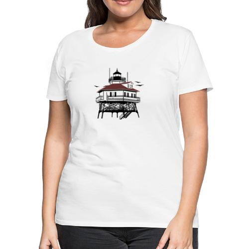 Lighthouse Drawing Illustration - Women's Premium T-Shirt