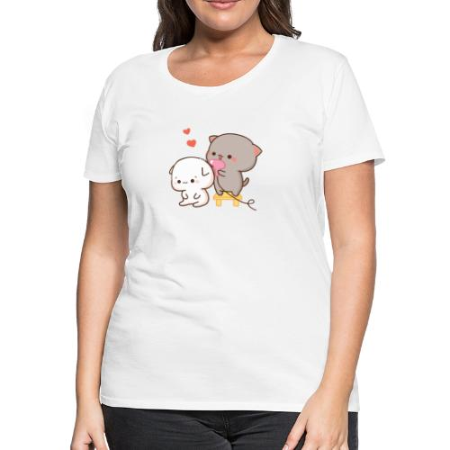 Goma blowdry Peach - Mochi Peach Cat - Women's Premium T-Shirt