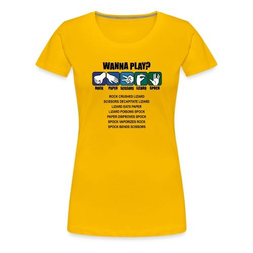 rock paper scissors lizard spock shirt - Women's Premium T-Shirt