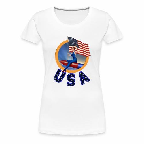 Flag USA - Women's Premium T-Shirt