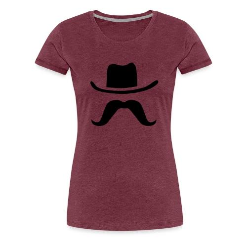 Hat & Mustache - Women's Premium T-Shirt