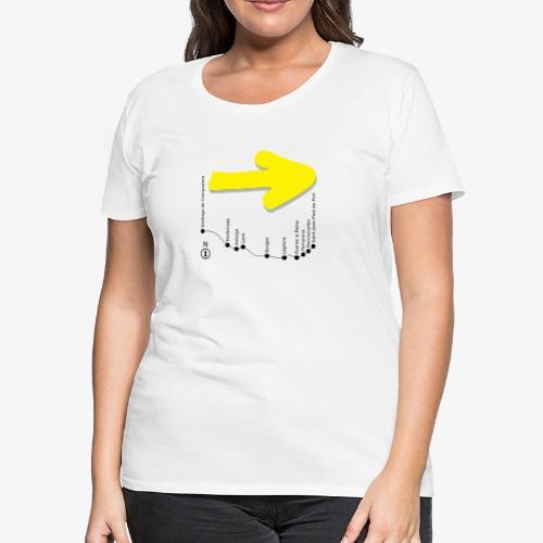 Arrow Map 017 for bright - Women's Premium T-Shirt