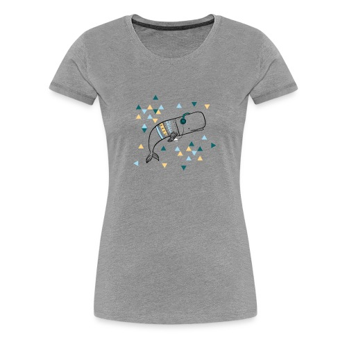 Music Whale - Women's Premium T-Shirt