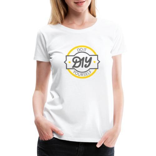 Do It Yourself | DIY | Minimal Badge-like Design - Women's Premium T-Shirt