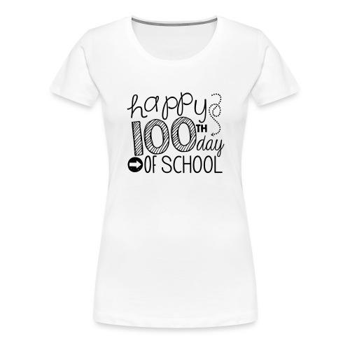 Happy 100th Day of School Arrows Teacher T-shirt - Women's Premium T-Shirt