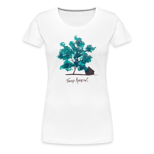 Teal Tree PNG - Women's Premium T-Shirt
