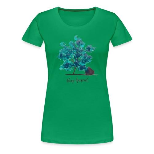 Teal Tree PNG - Women's Premium T-Shirt