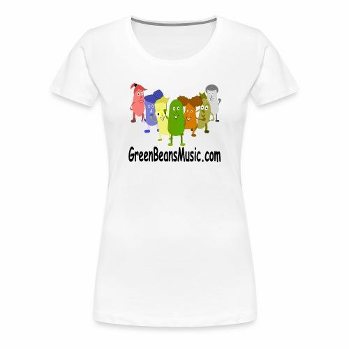 Green Bean's Music Apparel Black Logo - Women's Premium T-Shirt