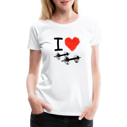I Love Iron Gym Motivation - Women's Premium T-Shirt