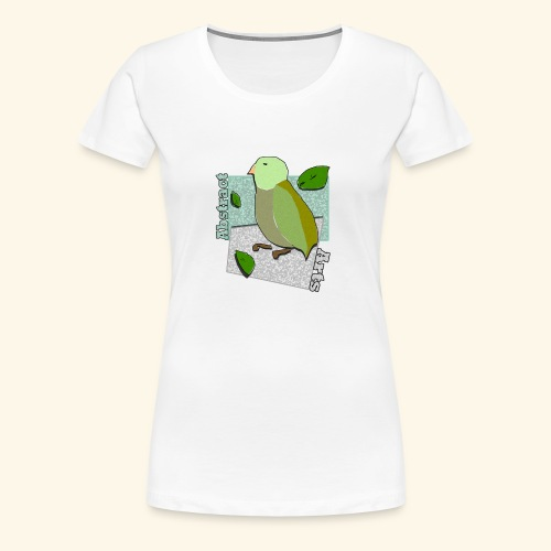 Little Bird Abstract Arts by Cc Arts Designs - Women's Premium T-Shirt