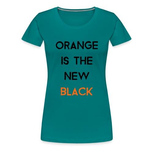 (orange2) - Women's Premium T-Shirt