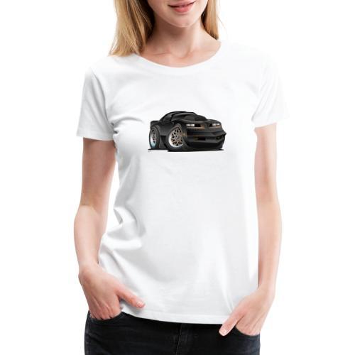 Seventies Classic Muscle Car Cartoon - Women's Premium T-Shirt