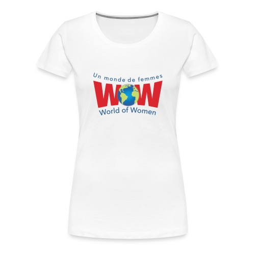 WOW logo Big - Women's Premium T-Shirt