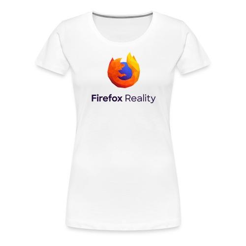 Firefox Reality - Transparent, Vertical, Dark Text - Women's Premium T-Shirt