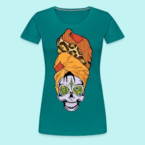 ERYKAH BADU SKULLY - Women's Premium T-Shirt