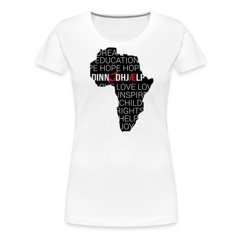 DINNoedhjaelp Africa logo - Women's Premium T-Shirt