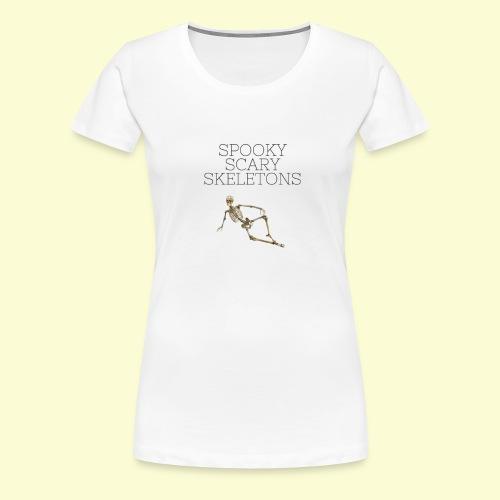 Spooky Scary Skeletons (2) - Women's Premium T-Shirt