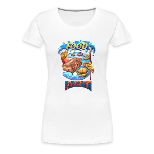 Food Art - Computer Resolution - Women's Premium T-Shirt