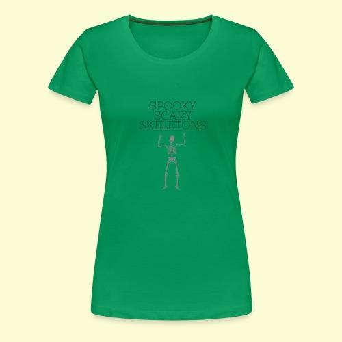 Spooky Scary Skeletons (1) - Women's Premium T-Shirt