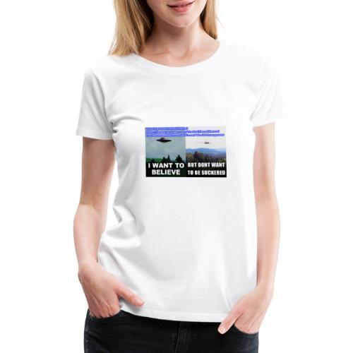 tshirt i want to believe - Women's Premium T-Shirt