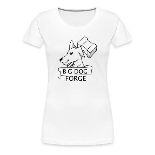 Big Dog Forge [Black] - Women's Premium T-Shirt