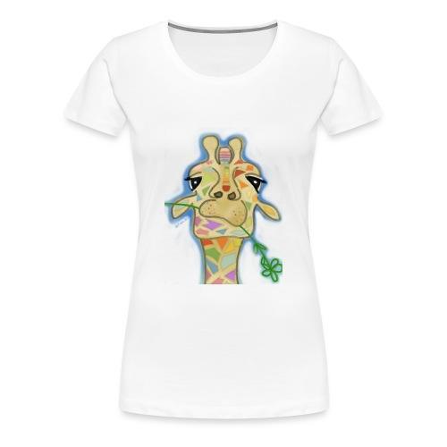 Geometric giraffe - Women's Premium T-Shirt