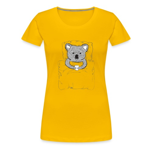 Print With Koala Lying In A Bed - Women's Premium T-Shirt