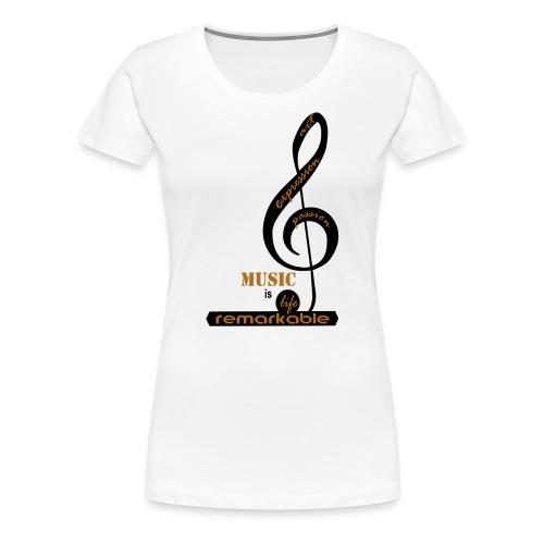 Remarkable Music - Women's Premium T-Shirt