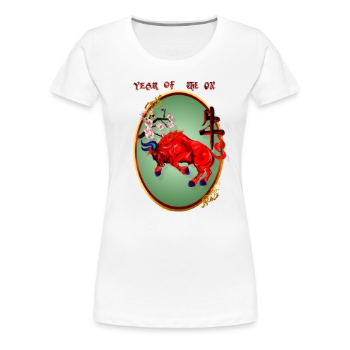 The Red Ox Oval - Women's Premium T-Shirt