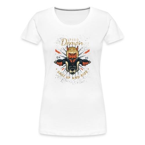 Demon Vintage Motorcycle - Women's Premium T-Shirt