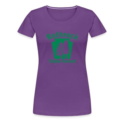Rothrock State Forest Keystone (w/trees) - Women's Premium T-Shirt