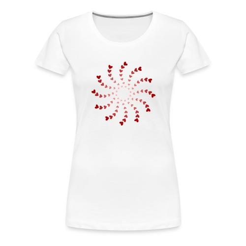 heart spiral - Women's Premium T-Shirt