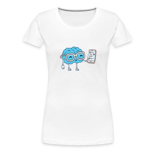 Cartoon Brain - Women's Premium T-Shirt