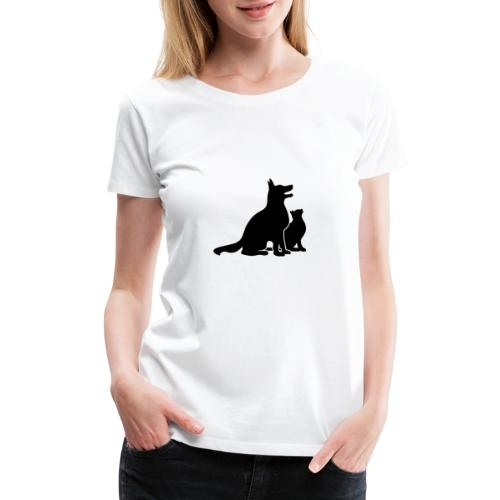 Dog and Cat Best Friends - Women's Premium T-Shirt