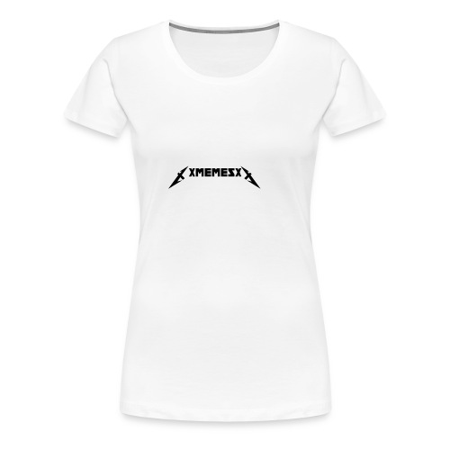 XMEMESX logo small - Women's Premium T-Shirt