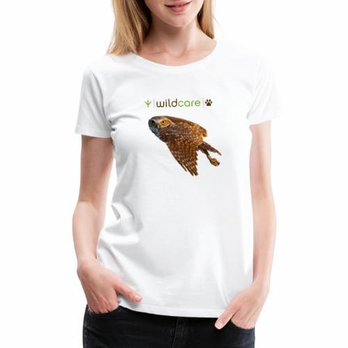 Burrowing Owl in Flight - Women's Premium T-Shirt