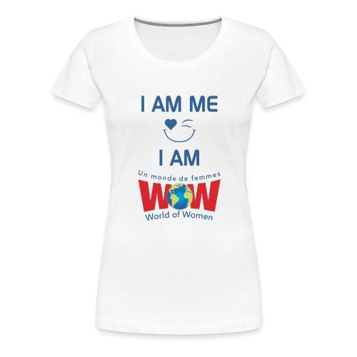IamMeIamWowLogoBiggerBlue - Women's Premium T-Shirt