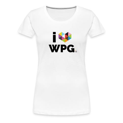 I heart WPG - Women's Premium T-Shirt