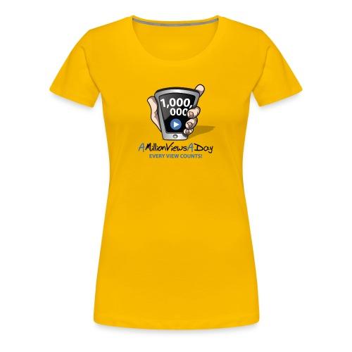 AMillionViewsADay - every view counts! - Women's Premium T-Shirt