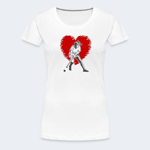 I love Hockey - Women's Premium T-Shirt