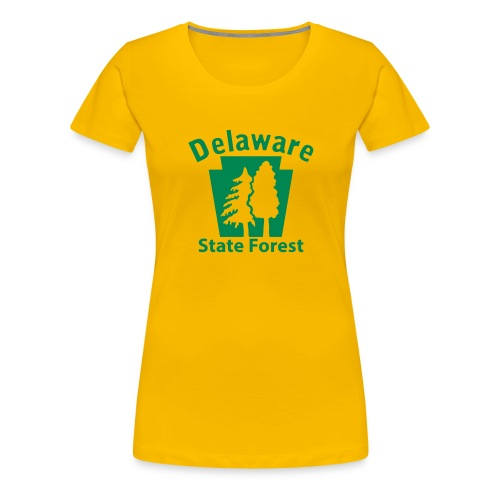 Delaware State Forest Keystone (w/trees) - Women's Premium T-Shirt