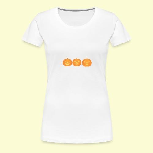 3 carved pumpkins - Women's Premium T-Shirt