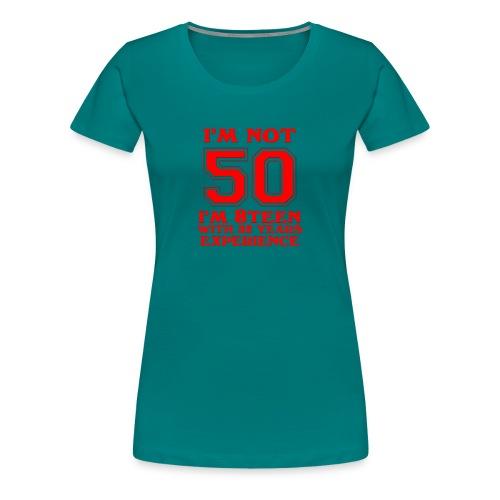 8teen red not 50 - Women's Premium T-Shirt