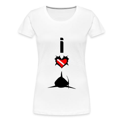I Love Sharks - Women's Premium T-Shirt