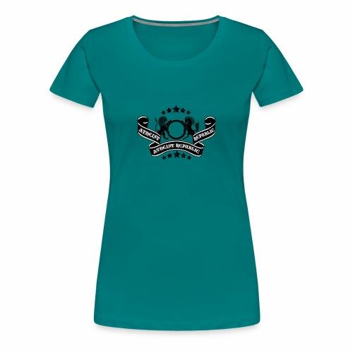 Atheist Republic Logo - Banner & Stars - Women's Premium T-Shirt