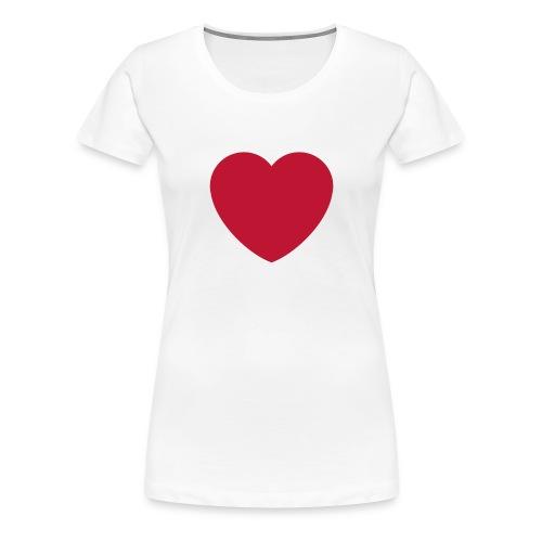 coeur.png - Women's Premium T-Shirt