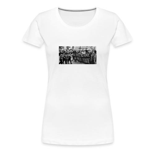 No Racist Cops - Women's Premium T-Shirt