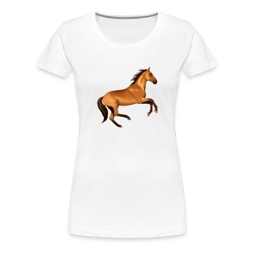 horse riding - Women's Premium T-Shirt